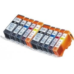CANON PGI-520 CLI-521 : Lot 10 cartouches compatible pour Pixma IP3600 IP4600 IP4600X IP4700 MP540 MP550 MP560 PGI520 CLI521