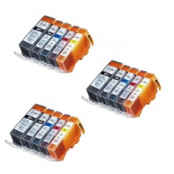 CANON PGI-520 CLI-521 : Lot 15 cartouches compatible pour Pixma IP3600 IP4600 IP4600X IP4700 MP540 MP550 MP560 PGI520 CLI521