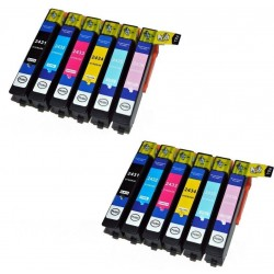EPSON 24XL : Lot 12 cartouches compatible pour Expression Photo XP750 XP850 XP950 XP-750 XP-850 XP-950 - T2438